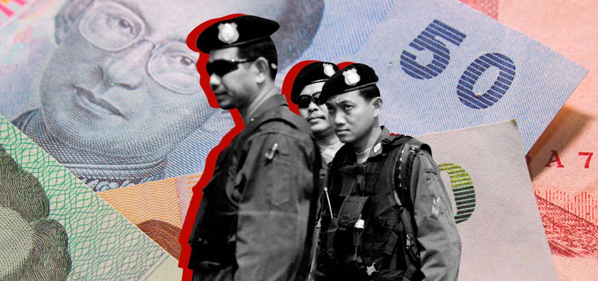 illegal gambling den in Thailand shut down